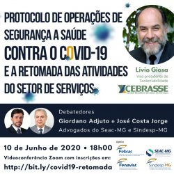 Videconferência no Zoom, quarta feira, dia 10/06/2020,  às 18h00